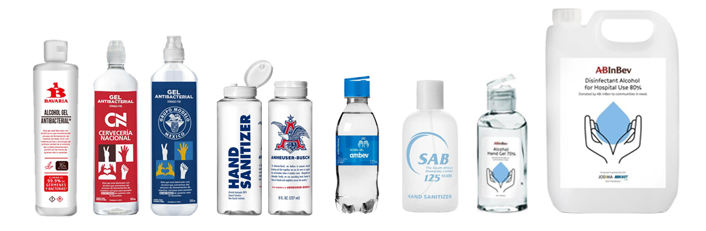 AB InBev is manufacturing over 1 million bottles of hand sanitizer to donate to hospitals and frontline workers around the world